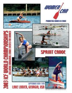 Poster - Women Canoe Promoting Women in Canoe 2003 ICF Canoe Sprint World Championships