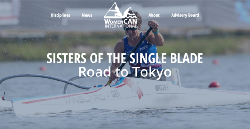 Home Page Screenshot - Emma Wiggs Great Britain Paracanoe