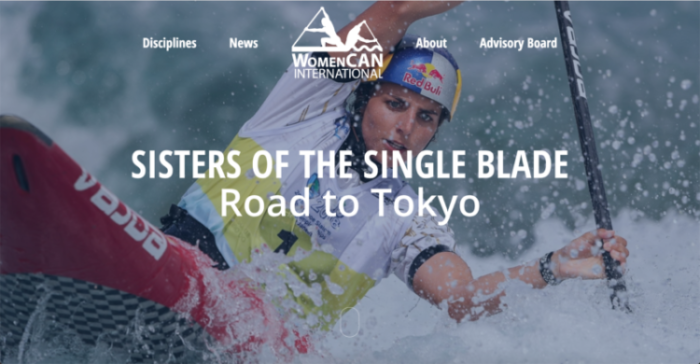 Home Page Screenshot - Jessica Fox Australia Slalom